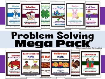 Problem Solving Mega Pack - Seasonal Math Word Problems