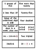 Problem Solving & Mental Math MATCH 1