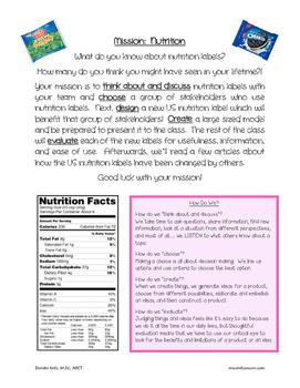 Problem Solving:  Mission Nutrition