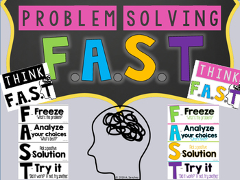 Problem Solving Posters {Mnemonic} Think F.A.S.T
