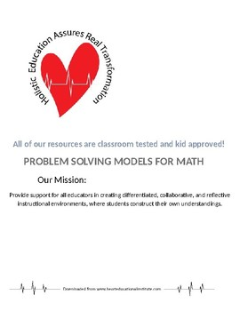 Problem Solving Models for Math