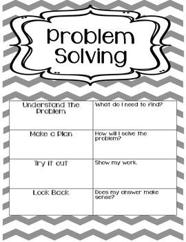 Problem Solving Notebook- Third Grade