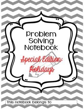 Problem Solving Notebook- Third Grade SPECIAL EDITION