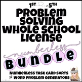 Problem Solving & Number Sense WHOLE SCHOOL LICENSE to build reasoning!