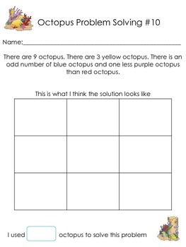 Problem Solving Octopus Math Edition