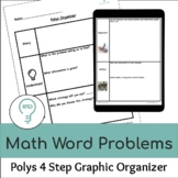 Word Problem Solving | Polya 4 Step Graphic Organizer