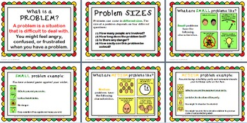 Problem-Solving Pack - Unit on little-medium-big problems - social skills, ASD