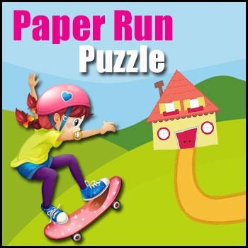 Problem Solving - Paper Run Math Puzzle