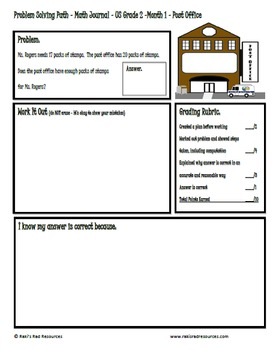 Problem Solving Path for 2nd Grade/ Year 3: Year Long Plan of Word Problems