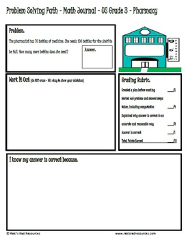 Problem Solving Path for 3rd Grade/ Year 4: Year Long Plan of Word Problems