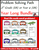 Problem Solving Path for 3rd Grade/ Year 4: Year Long Bundle of Word Problems