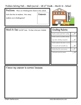 May Problem Solving Path: Real Life Word Problems for 3rd Grade/ Year 4