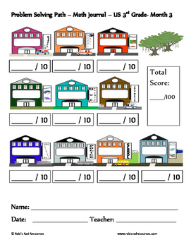 October Problem Solving Path: Real Life Word Problems for 3rd Grade/ Year 4