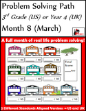 March Problem Solving Path: Real Life Word Problems for 3rd Grade/ Year 4