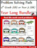 Problem Solving Path - 4th Grade/ Year 5 - A Year Long Bundle