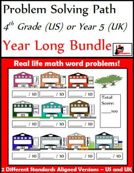 Problem Solving Path - 4th Grade/ Year 5 - A Year Long Bundle