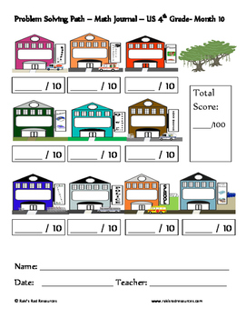 May Problem Solving Path: Real Life Word Problems for 4th Grade/ Year 5