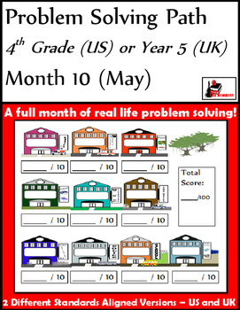 May Problem Solving Path: Real Life Word Problems for 4th