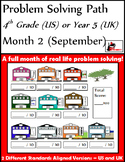 September Problem Solving Path: Real Life Word Problems fo