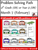 February Problem Solving Path: Real Life Word Problems for 4th Grade/ Year 5