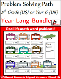 Problem Solving Path - 5th Grade/ Year 6 - A Year Long Bundle