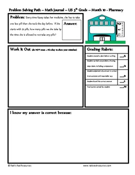 May Problem Solving Path: Real Life Word Problem for 5th Grade/ Year 6