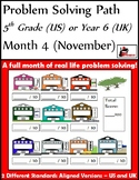 November Problem Solving Path: Real Life Word Problems for 5th Grade/ Year 6