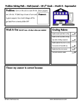March Problem Solving Path: Real Life Word Problems for 5th Grade/ Year 6