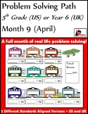 April Problem Solving Path: Real Life Word Problems for 5th Grade/ Year 6