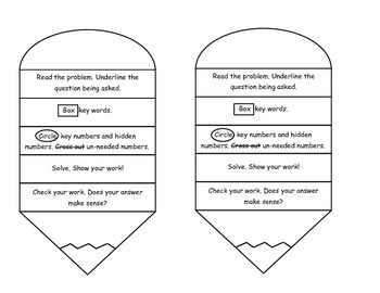 Problem Solving Pencil for Interactive Notebooks