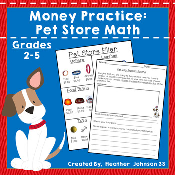 Money Problem Solving: Pet Store