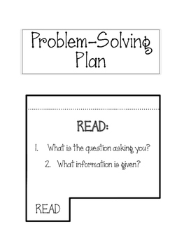 Problem Solving Plan FOLDABLE. Word Problems. Interactive Notebook