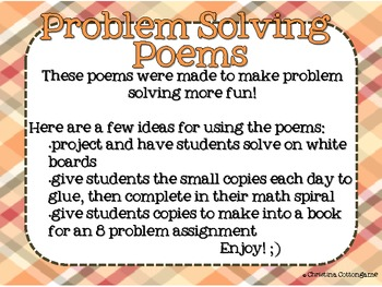 Problem Solving Poems