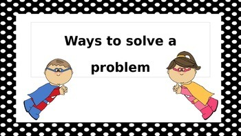 Problem Solving Poster for elementary students