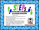 Problem Solving Posters - STEPs to solving a problem in a social situation
