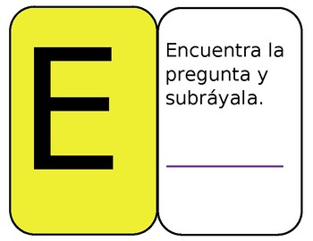 Problem Solving Posters and Interactive Notebook Glue-in (Spanish)