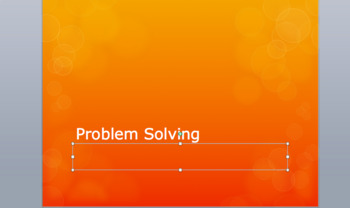 Problem Solving Powerpoint Discussion/Situational Based Lesson with Activity