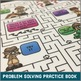 Problem Solving Practice Dry Erase Book or Workbook