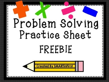 Problem Solving Practice Sheet Freebie