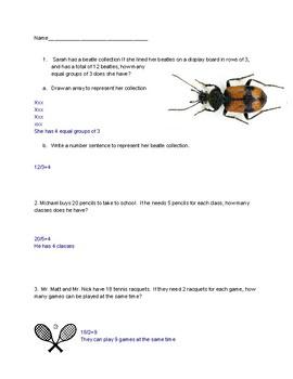Problem Solving Practice division 3rd Grade Eureka Math Module 1