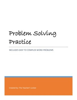 Problem Solving Practice for the Middle Schooler