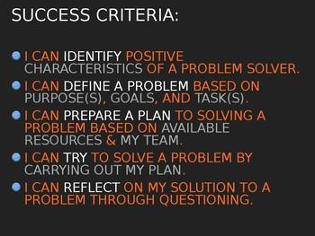 STEM Problem Solving Presentation (Any Grade)