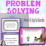 Problem Solving Print and No Print Bundle for Speech Therapy