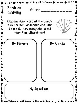 Problem Solving Printable Practice Sheets