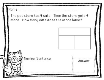 Problem Solving Printables: Pet Shop Edition