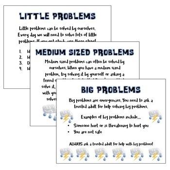 Problem Solving & Problem Scaling Posters for Parents