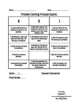 Problem Solving Process Rubric