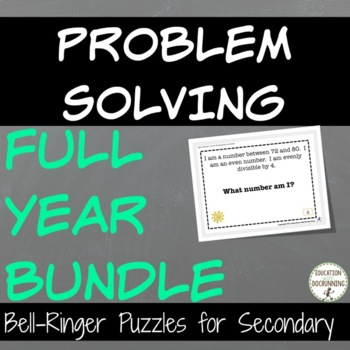 Problem Solving Puzzles Bundle for Middle School Math