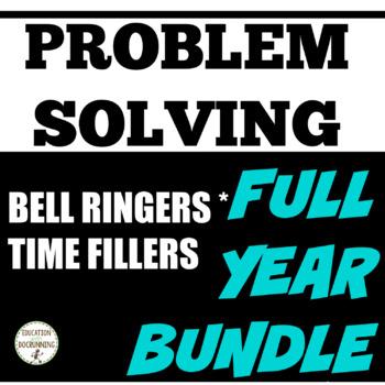 Problem Solving Puzzles Bundle for Middle School Math