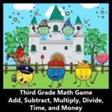 3-digit Addition, 3-digit Subtraction, Multiply, Divide, T